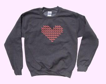 Heart Full of Corgi Love - Dog Crewneck Sweater