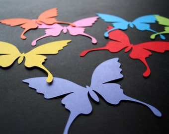 Paper BUTTERFLIES of any size 50 pcs , card stock butterflies, butterfly die cut, wedding butterflies, nursery decor, butterfly cutouts