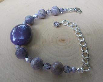 Lavender Stone Bracelet