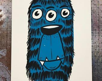 Two Eye Blue Growler Art Print