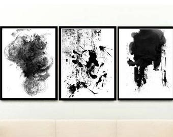 Abstract Wall Art, Triptych, Set of 3 Prints, Printable Art, Abstract Art, Home Decor, Wall Decor, Digital download