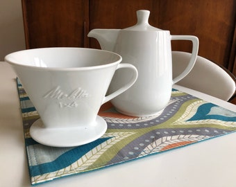 Vintage Ceramic Melitta Pour-Over Filter Cone and/or 5-Cup Coffee Pot