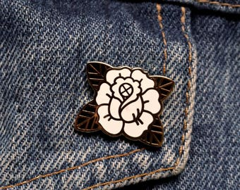 Pin's ROSE / Noir-Or / EUDOXIE Motorcycle Gear