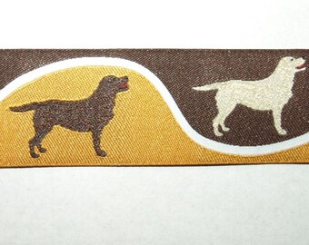 Jacquard Ribbon brown cognac beige Labrador Hunting Dog