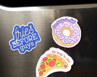 Food Magnets • Decorative Magnets • Pizza, doughnut Magnets • Refrigerator magnet, fridge magnet, gift