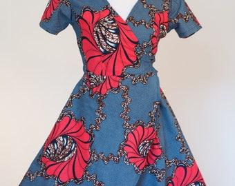 Kitenge Dress // colorful dress // women's dress // floral print dress // ankara dress // dresses for women