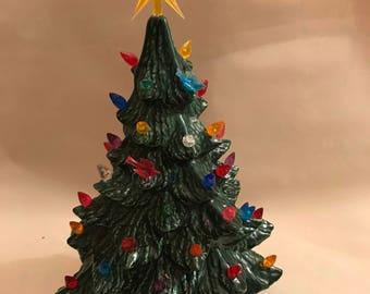 """15"""" ceramic christmas tree"""