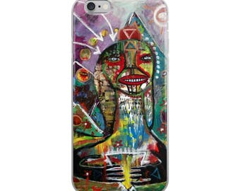 Sfinx Thinx of Theese Thinx. Original outsider art. Art iPhone Case.