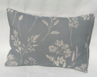 Cushion Cover in Peony & Sage WILD GRASSES and  CORNFLOWER