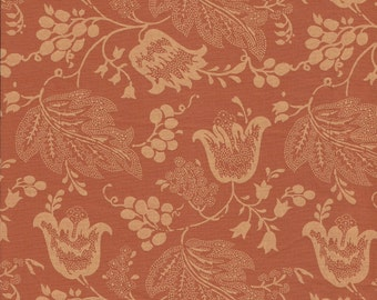Dutch Chintz - Orange - Ton sur Ton 1/2 yd
