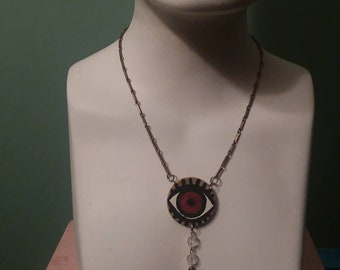 FREE SHIPPING! Handmade evil eye necklace