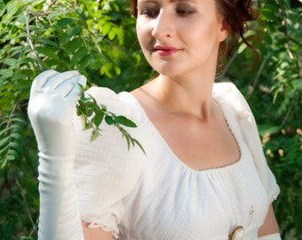 Regency dress, Jane Austen gown, Reenactment Costume, made to order