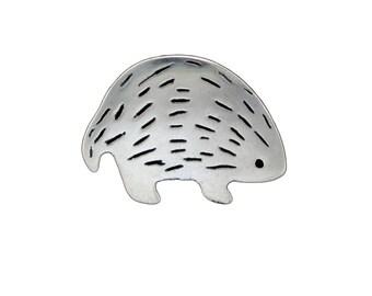 Sterling Hedgehog Necklace - Silver Porcupine Pendant