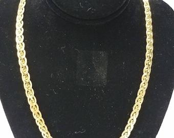 Napier Vintage Gold-tone Braided Chain Necklace