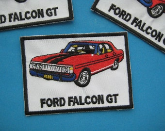 Clearance~ 3 pcs Iron-on embroidered Patch FORD FALCON GT 3.5 inch