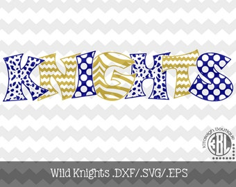 Wild Knights Files INSTANT DOWNLOAD in dxf/svg/eps for use with programs such as Silhouette Studio and Cricut Design Space