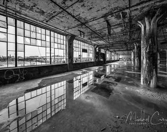 Fisher Body Plant 21 Fine Art Photographic Print, abandoned Detroit