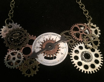 Steampunk Time Necklace