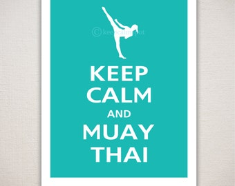 Keep Calm and MUAY THAI Typography Print