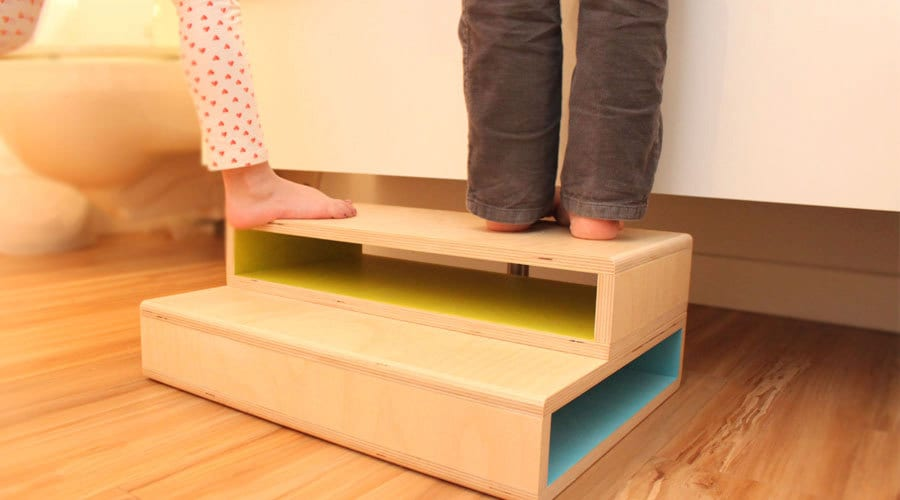 Finest StepUp II - A Modern step stool designed for two kids WX66