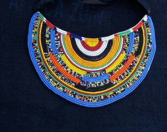 maasai necklace, masai beaded necklace, statement necklace, big bold necklace, bib necklace, tribal necklace, unique necklace for women