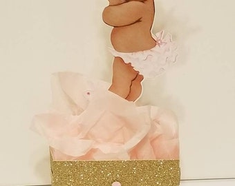 Princess Table decor Centerpiece Baby shower or 1st birthday decor Pink Gold, You choose colors