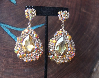 flower by drops earrings oversized our statement crystal htm glass rhinestone p