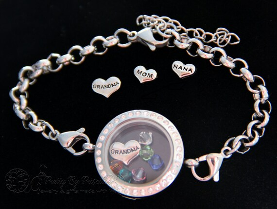 Mother Daughter Jewelry Grandmother Bracelet Glass Memory