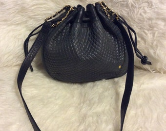 Vintage Bally black leather bag