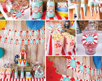 Carnival Party Decorations - Carnival Birthday Party - Carnival Signs - Instant Download and Edit File at home with Adobe Reader