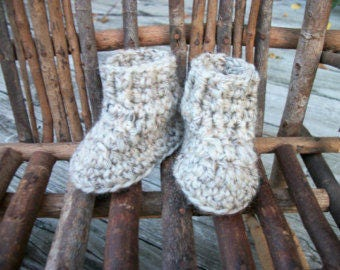 """Waldorf Doll Shoes, wool,  sole approx.  3.50"""" long & 3"""" high, waldorf doll clothes"""