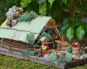 Fairy House, Gnome House, Fairy Garden, Fairy Cottage, Gnome Home, Mini Woodland House