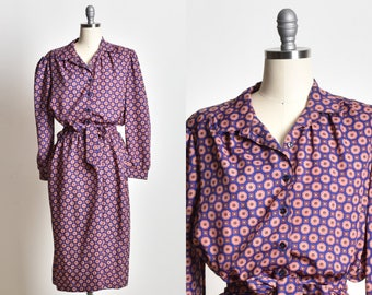 Ethnic dress, Fit and Flare dress, Collared dress, long sleeve dress, midi dress, unique dress, hippie dress, empire waist dress, day dress,
