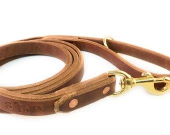Custom handmade leather dog leash
