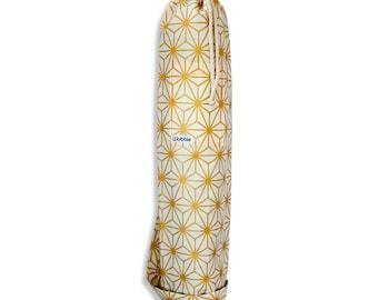 Gold geometric star Wobble Yoga mat bag