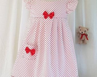 Red spot summer dress