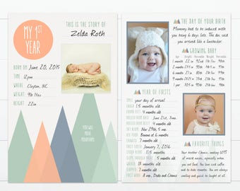 """You'll Move Mountains Baby's First Year Memory """"Book"""""""