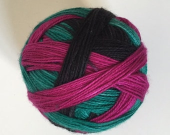 To order sock yarn: 'Eighties' (3 colours, self striping)
