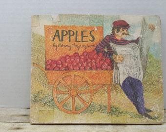 Apples, 1972, Nonny Hogrogian, vintage kids book, no words