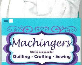Machingers Quilting Gloves MD/L for Machine Piecing and Quilting