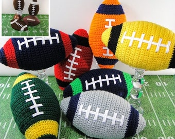 Football Crochet Pattern - Crochet Football Pillow Potholder and Plastic Bag Holder - Football Pillow Crochet Pattern - Instant Download PDF