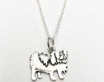 Pekingese Charm Necklace