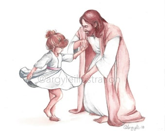 Girl Dancing with Christ