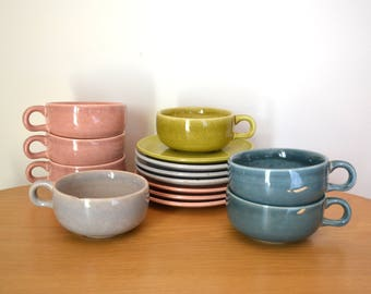 Mid Century Modern Russel Wright American Modern Tea Set Mixed Colors