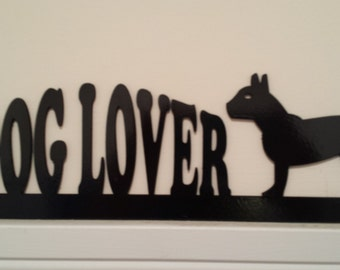 Dog Lover Silhouettes  Door Topper / Window Topper / Wall hanging Handcrafted and Painted. Perfect Gift for the Dog Lover!