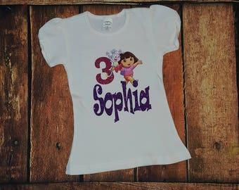 Dora the Explorer Birthday Shirt