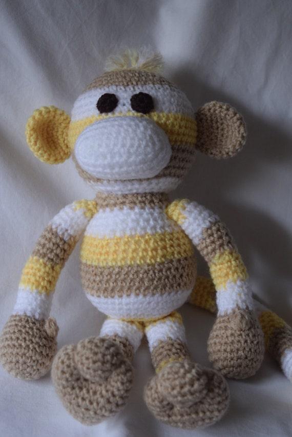 Häkeln Sie Sock Monkey Monkey häkeln Häkeln Spielzeug
