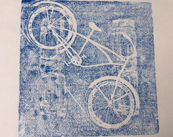 BLUEPRINT BICYCLE Styrofoam Print by Amy