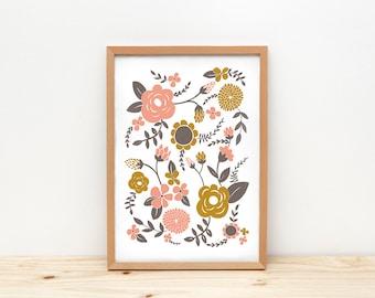 Flowers - print