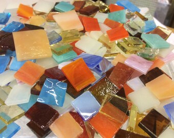 100 GRAB BAG #5 MOSAIC Stained Glass Mosaic Tiles Mix Size & Color B47